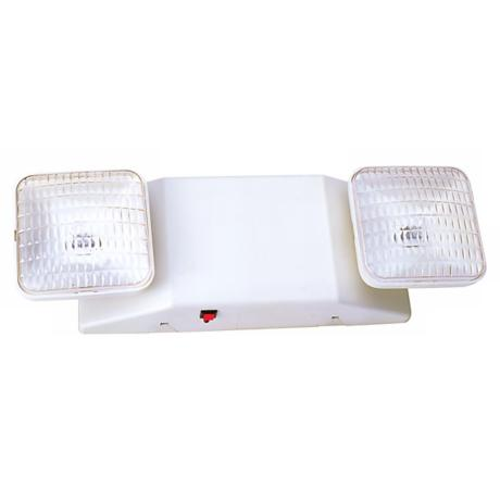 Two Light Damp Location White Emergency Light