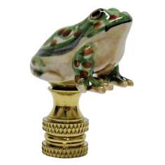 Green Frog Porcelain Finial