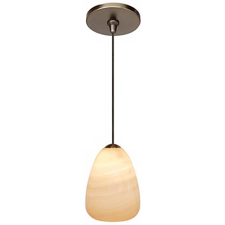LBL Onyx Teardrop Bronze Pendant Light