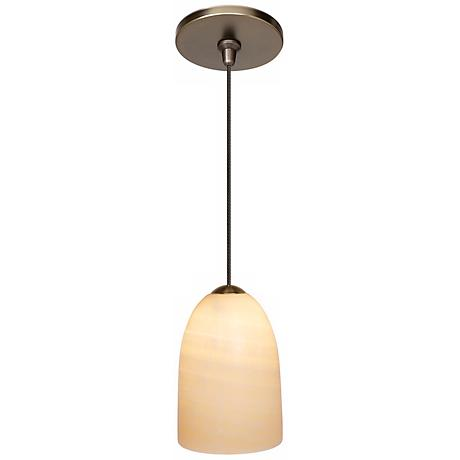 LBL Onyx Dome Bronze Pendant Light