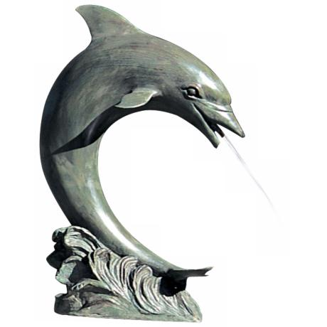 Large Single Dolphin Fountain