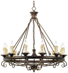 Rodeo Collection Round Twelve Light Chandelier