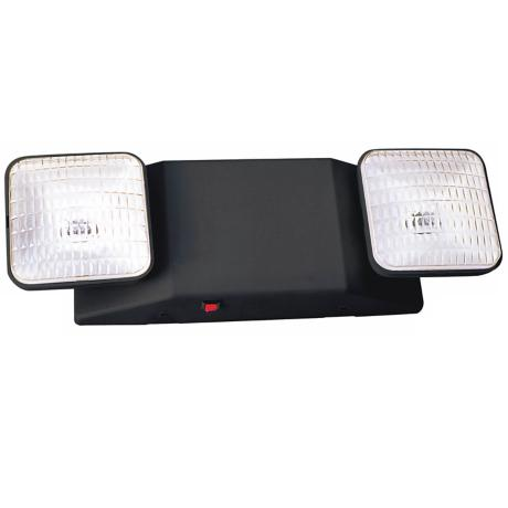 Two Light Damp Location Black Emergency Light