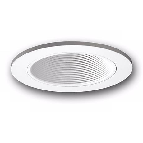 "Halo 3"" White Baffle Adjustable Recessed Trim"