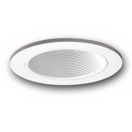 "Halo 3"" White Finish and Baffle Adjustable Recessed Trim"