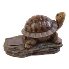 Solar Powered Turtle Amber LED Landscape Accent Light
