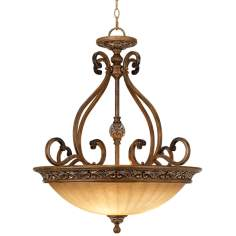 "Kathy Ireland Sterling Estate 27"" Wide Pendant Light"