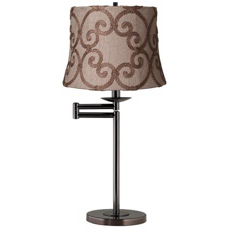 Leiden Taupe Bronze Swing Arm Desk Lamp Base