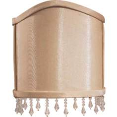 Silk Wall Sconce Half Shade 3x5.25x6.5 (Clip-On)