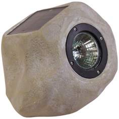 Small Faux Rock Solar LED Outdoor Accent Light