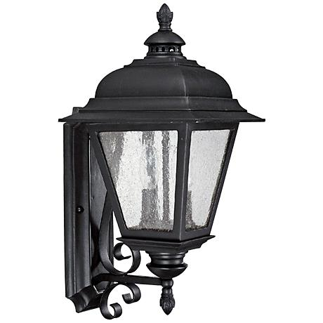 "Capital Brookwood 18 3/4"" High Black Outdoor Wall Light"