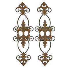 European Scrolls Set of Two Traditional Metal Wall Art