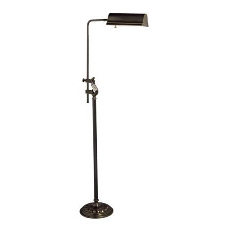 Adjustable French Bronze Finish Pharmacy Floor Lamp