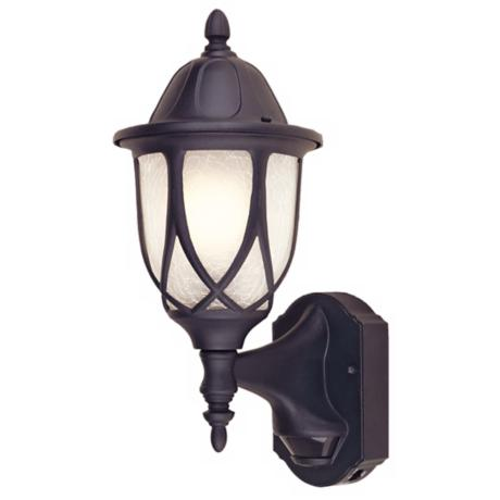 "Capella Motion Sensor 15 1/2"" High Black Outdoor Wall Light"