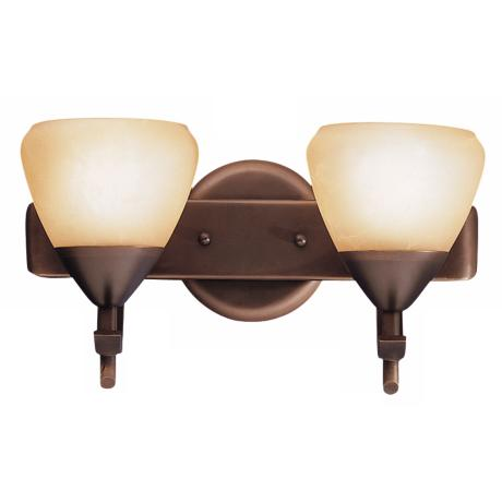 "Olympia Bronze 12"" Wide Bathroom Light Fixture"