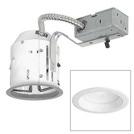 "4"" Non-IC Remodel 10W LED Complete Recessed Light Kit"