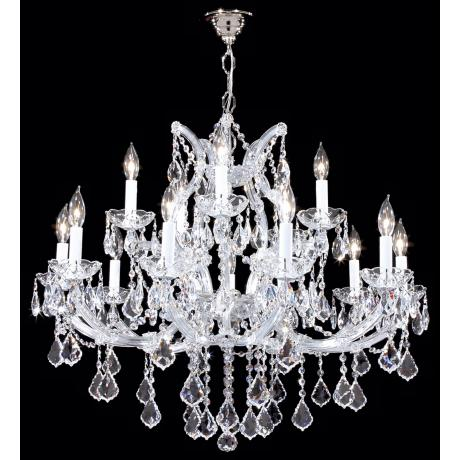 James R. Moder Maria Teresa Silver Sixteen Light Chandelier