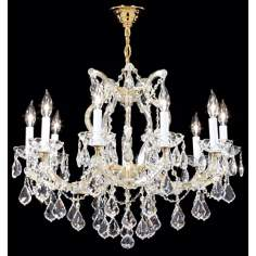 "James R. Moder Maria Teresa Gold 28"" Wide Chandelier"
