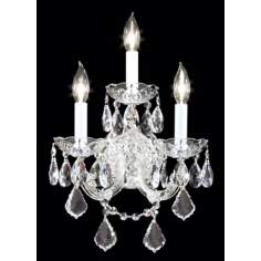 James R. Moder Maria Teresa Three Light Silver Wall Sconce
