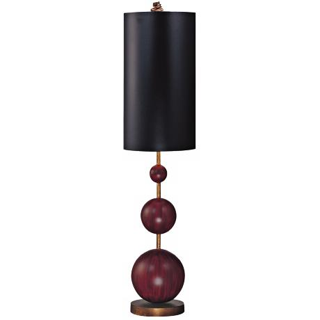 Flambeau Marie Oxblood Red Buffet Table Lamp