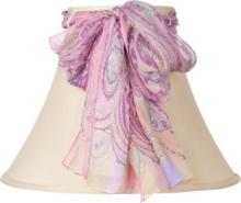 Beige Loop Shade with Paisley Scarf