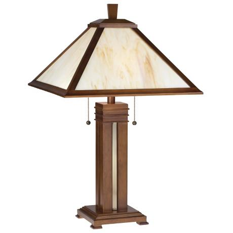 Prairie Style with Honey Glass Table Lamp