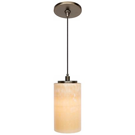 LBL Onyx Cylinder Bronze Pendant Light