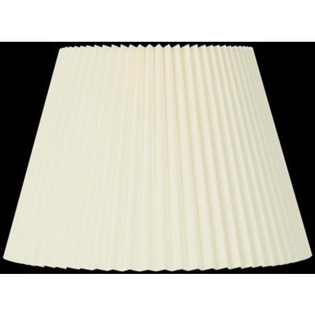 Ivory Knife Pleat Lamp Shade 9x14.5x10 (Spider)