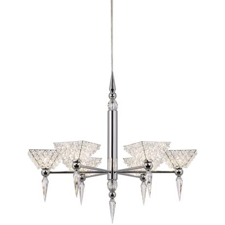 Schonbek Geometrix Vertex Clear Crystal Chandelier