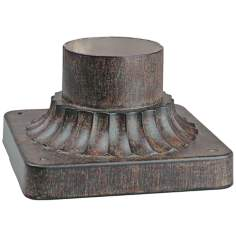 Iron Oxide Fluted Post Mount Adapter