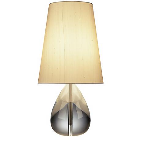 Jonathan Adler Crystal Teardrop Table Lamp with Oyster Shade