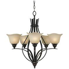 "Morningside Collection 25 1/2"" Wide 5-Light Chandelier"