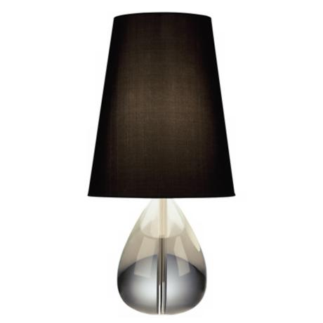 Jonathan Adler Crystal Teardrop Table Lamp with Black Shade