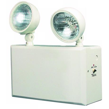 White 2-Head 6V 100W Emergency Light
