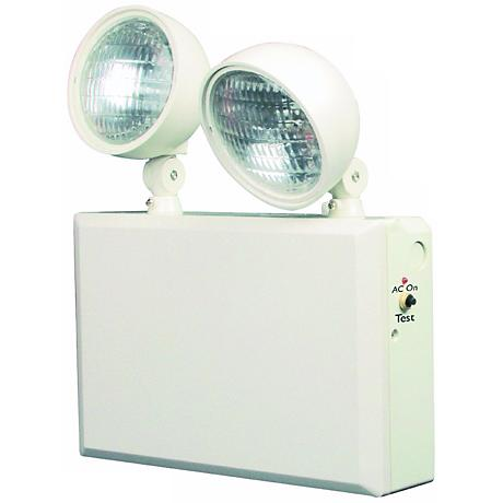 White 2-Head 12V 50W Emergency Light