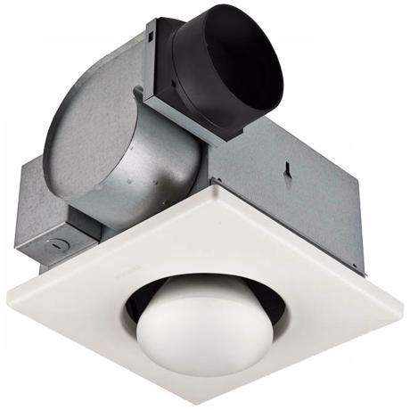 NuTone 70 CFM One-Bulb Heat-A-Vent Bathroom Exhaust Fan