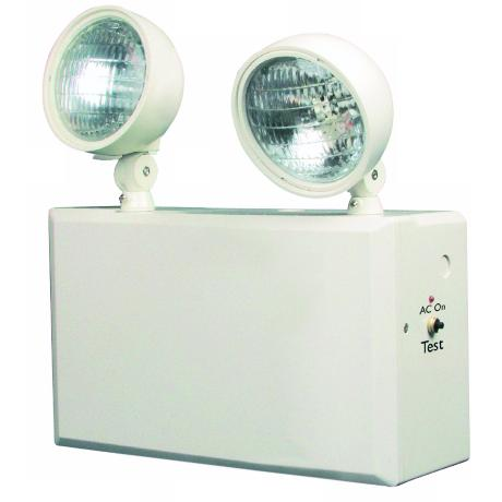 White 2-Head 12V 100W Emergency Light