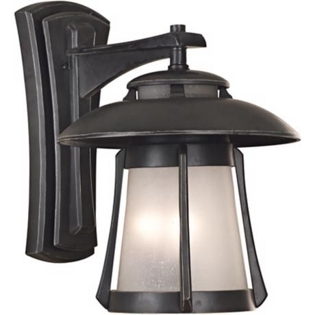 "Laguna Collection Ebony Pearl 19"" High Outdoor Wall Light"