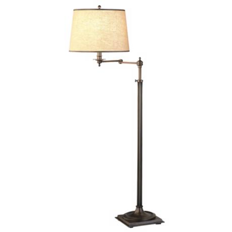 Robert Abbey Dark Brass Swing Arm Floor Lamp