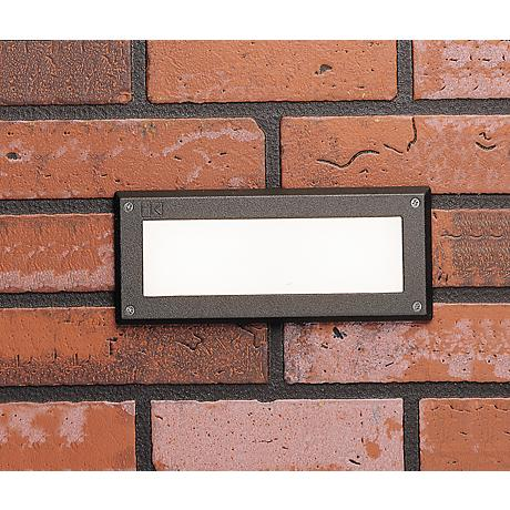 "Kichler Landscape 9"" Wide 3000K LED Bronze Brick Light"