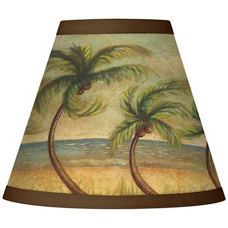 Dancing Palms Giclee Set of Four Shades 3x6x5 (Clip-On)