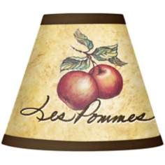 Les Pommes Giclee Set of Four Shades 3x6x5 (Clip-On)