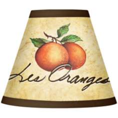 Les Oranges Giclee Set of Four Shades 3x6x5 (Clip-On)