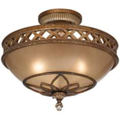 "Minka Aston Court Bronze 15 3/4"" Wide Ceiling Light Fixture"