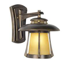 "Laguna Collection Golden Bronze 13"" High Outdoor Wall Light"