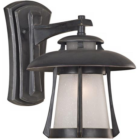 "Laguna Collection Ebony Pearl 13"" High Outdoor Wall Light"