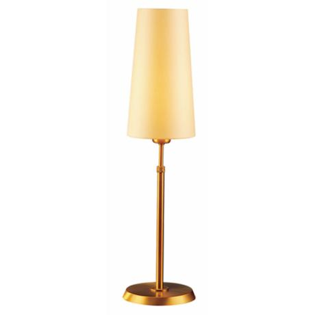 Holtkoetter Antique Brass Table Lamp with Slim Kupfer Shade
