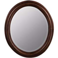 "Addison Birch Wood Oval 30"" High Mirror"