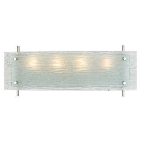 "Possini Euro Design 24"" Wide Frosted Glass Bath Fixture"