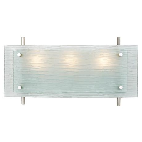 "Possini Euro 19"" Wide Frosted Glass Bath Fixture"